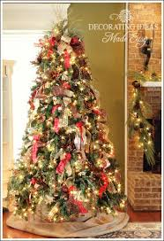 how to decorate a tree with only ribbon and greenery