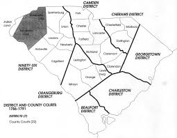 Map Of South Carolina Counties County Boundaries 1785 1791