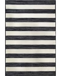 Black Outdoor Rugs Bargains On Worn Stripe Black Outdoor Rug 5 X7