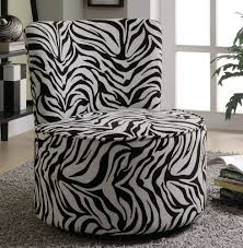 Zebra Accent Chair Swivel Accent Chair In Zebra Pattern Stargate Cinema