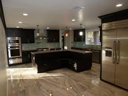 kitchen with island banquette seating lightning construction