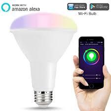 alexa compatible light bulbs lohas smart led bulbs wi fi br30 flood light bulb 75w 80w