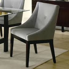 grey fabric dining chairs with black legs sale upholstered canada