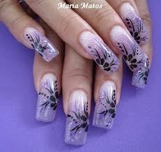 long nail art designs for nails abstract floral nail art design