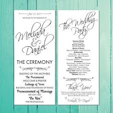 best wedding programs 12 best wedding programs images on wedding printable