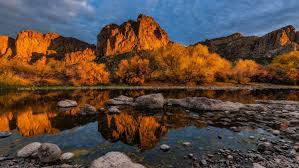 Arizona scenery images Sunsire bulldog cliffs lower salt river goldfield mountains jpg