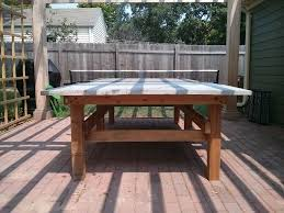 how to make an outdoor table i made a concrete ping pong table for the garden album on imgur