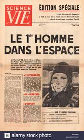 1961 science et vie france front page yuri gagarin is first man