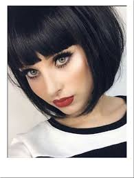 best hair to use for a bob black blunt bob fashion wig short and sharp super flattering