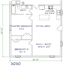1 Bedroom 1 1 2 Bath House Plans Floor Plans Texas Barndominiums