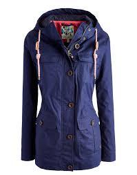 marine navy april women s waterproof front pocket jacket joules