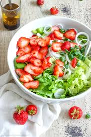 strawberry salad with poppy seed dressing happy foods tube