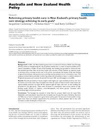 Health Care Services Australia Health Reforming Primary Health Care Is New Zealand U0027s Primary Health
