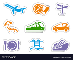 travel stickers images Travel stickers royalty free vector image vectorstock jpg