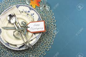 Beautiful Place Settings Beautiful Vintage Thanksgiving Dinner Table Place Setting With