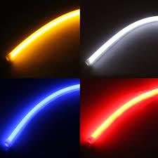 led light strip turn signal 2pcs 60cm flexible soft tube car le end 11 22 2018 3 10 pm