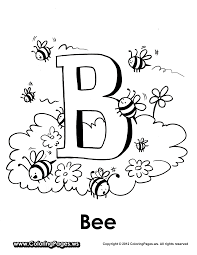 b is for bee coloring page national pollinator week utah