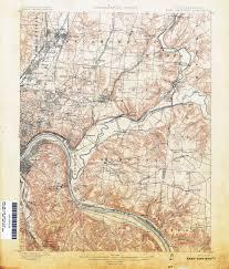 Map Cincinnati Ohio Historical Topographic Maps Perry Castañeda Map Collection
