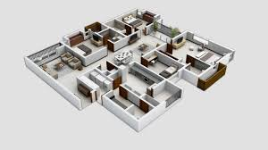 unusual ideas 3d house plans free 6 4 bedroom apartmenthouse on