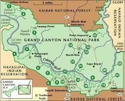 grand national park map grand national park detailed trail descriptions trip