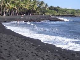 black sand beach big island hawaii it is something to see