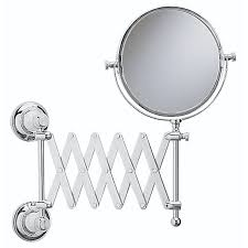 Extendable Mirror Bathroom Clifton Ext Mirror Chrome Buy At Bathroom City