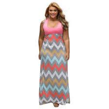 light blue and white striped maxi dress plus size women summer dress light blue wave striped multicolor