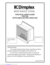 Fireplace Installation Instructions by Dimplex Optiflame Electric Fireplace Manuals