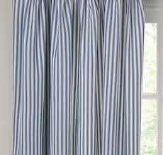 Blue Ticking Curtains Curtains Ticking Stripe Blue And White Cheap Curtains