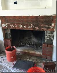 how i painted my red brick fireplace with white chalk paint
