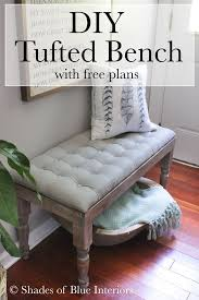 Diy Tufted Storage Ottoman Diy Tufted Bench Create Button Piano Bench And Entry Bench
