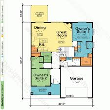 one floor plans with two master suites apartments two master suites house plans two master suites house
