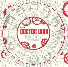 doctor who travels in time colouring book