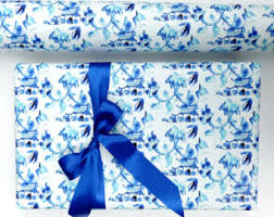 chinoiserie wrapping paper gift wrapping etsy