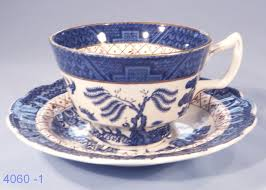 booths real old willow vintage silicon china large tea cup and