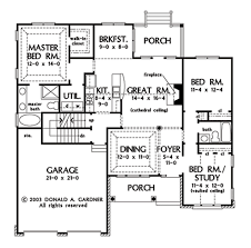 Donald A Gardner Floor Plans by Traditional Style House Plan 3 Beds 2 00 Baths 1486 Sq Ft Plan