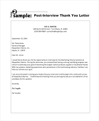 sample thank you letter after interview 8 free documents in pdf