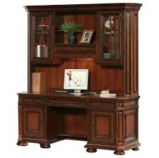 amish mission computer desk hutch solid wood home office rustic