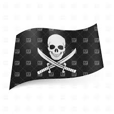 Picture Of A Pirate Flag Skulls Saber And Bones Pirate Flag Royalty Free Vector Clip Art