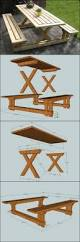 Plans To Build A Children S Picnic Table by Best 25 Picnic Table Plans Ideas On Pinterest Outdoor Table
