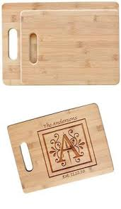 Wedding Engraved Gifts Engraved Newlywed Bamboo Cutting Board Wedding Anniversary Gift