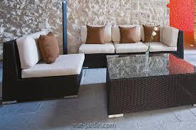 canapé en osier salon de jardin moderne en osier tressé blanc ou noir york de