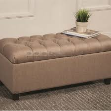 Large Storage Bench Coaster Taupe Tufted Storage Bench 500064