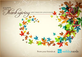 corporate thanksgiving animated ecard colorful autumn leaves