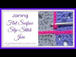 how to join crochet squares completely flat zipper method flat surface slip stitch join youtube