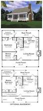 1 Bedroom House Plans by Cottage Country Southern House Plan 59039 Short Vacation Beach