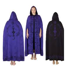 celtic ritual robes celtic moon goddess purple and black reversable cloak
