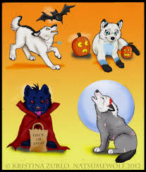 2 wolf pup halloween all taken by natsumewolf on deviantart