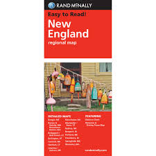 New England Map by Rand Mcnally Folded Map New England