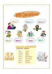 english teaching worksheets question words